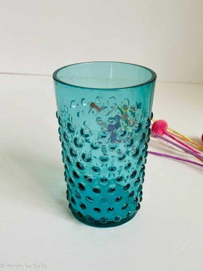 anna von lipa, anna von lipa pindsvine glas, pindsvineglas, vandglas, drikkeglas, glas i pindsvineglasPindsvineglas aqua marine