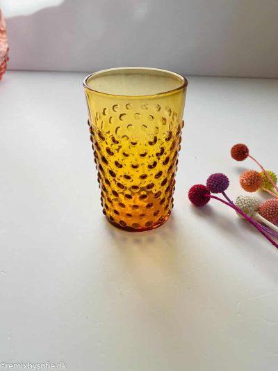 Pindsvine glas mørk amber