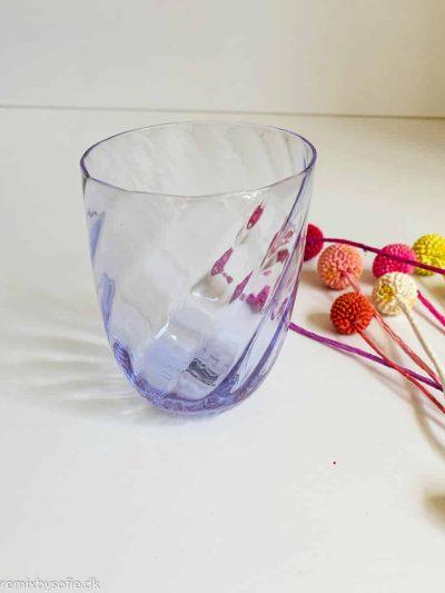 Anna von lipa Swirl glass in lilac purple