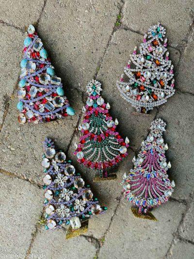 Juletræer i rhinsten