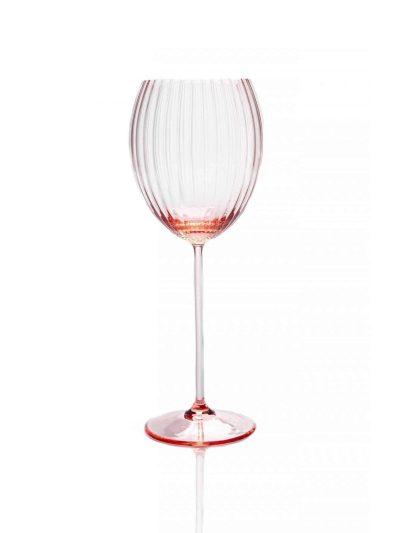 lyon ovalt vinglas, lyserøde vinglas, bordækning, mundblæst glas, handblown wineglass, bordækning, glas