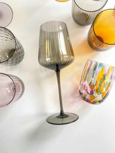 Remix by sofie, vinglas, rødvinsglas,mundblæst glas, borddækning