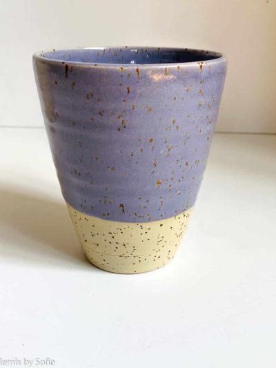 émber, émber keramik, keramik, keramik kop, latte kop, lilla kop, kaffe kop, tekrus