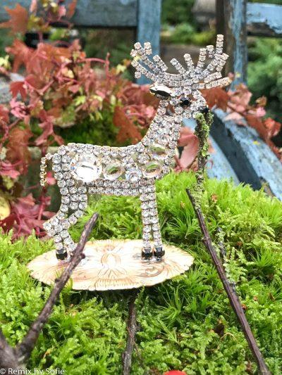 juletræ i rhinsten, rensdyr i rhinsten, rhinstens juletræ, vintage juletræ, tjekkiske juletræer, Czech christmastree, Christmas ornaments