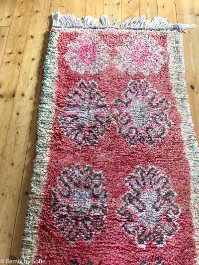 Marokans vintage tæppe, uldtæppe, vintage tæppe