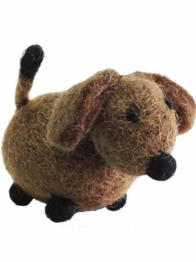 filtet hund, juletræspynt, pynt til juletræet, panda, pandabjørn, hund, gravhund julepynt til træet