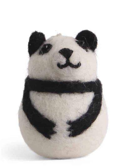 filtede julegaver, juletræspynt, pynt til juletræet, panda, pandabjørn, panda til træet