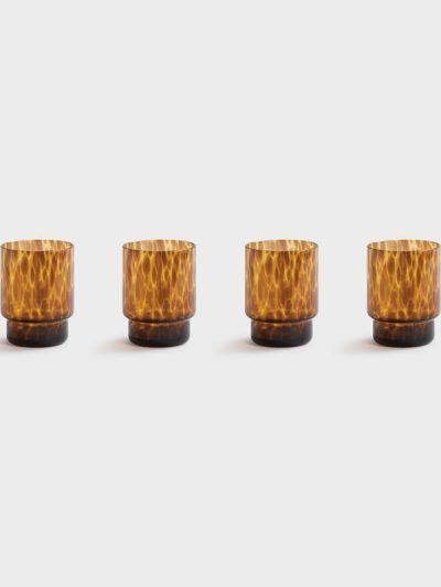 vandglas, drikkeglas, leopardglas