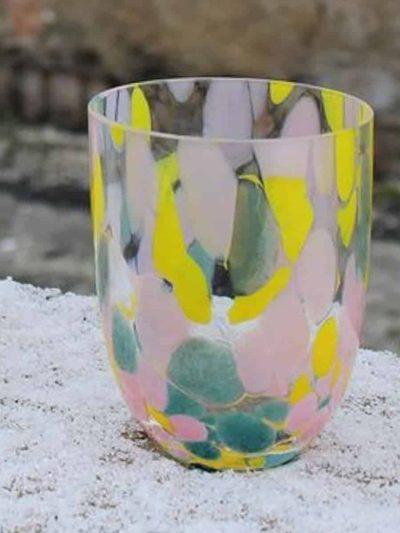 anna von lipa splash glas, glas med opal, vandglas, drikkeglas,
