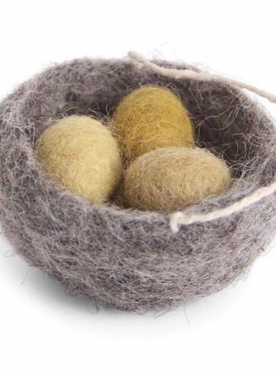 påskeæg, æg i rede, filtede æggevarmer til grene, påskepynt, marmore, filt fugle, håndlavaet filt pynt, økologisk uld, fairtrade, remix by sofie , én gry & sif, en gry & sif, filt julepynt, pynt i filt, filt fra nepal