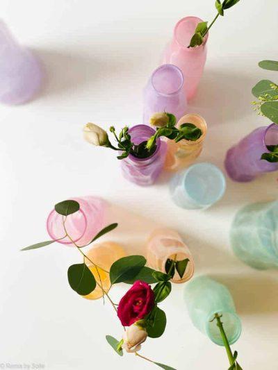 marie retpen vase, vaser, blomster vase, mundblæst glas, blomstervasemundblæst vase, krøl vase, vase i organisk form,