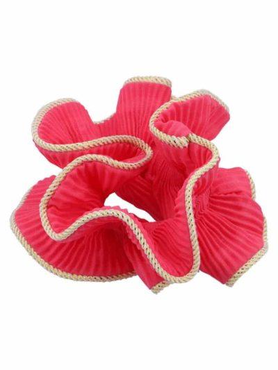 bow's by stær, scrunchie, lilje scrunchie, lilje, hårtilbehør, hårpynt, pink, pink scrunchie,