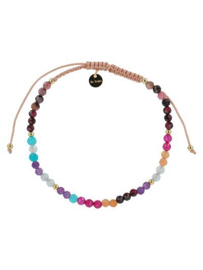 bow's by stær, armbånd, smykker, perlearmbånd, perler, ædelstensperler, multifarvet, knyttet armbånd,