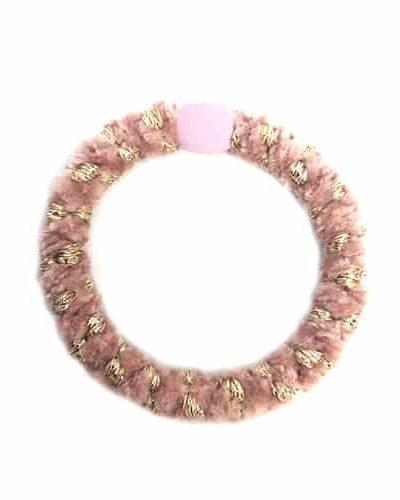 hår elastik. hårelastik, harties, hårpynt, bow's by stær, velvet, baby pink, velvet baby pink gold, velvet multi baby pink gold,