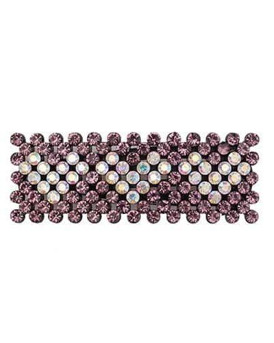 bow's by stær, hårspænde, spænde, hjerter, hearts, krystalsten, hvide hjerter, zoey, zoey spænde, rosa,