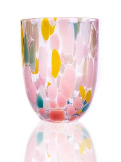 splask glas, anna von lipa, vandglas, drikkeglas, glas med opal, remix by Sofie