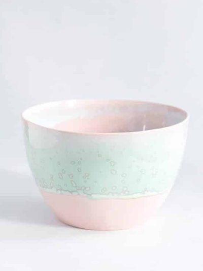 lena pedersen, remix by sofie, skål, håndlavet skål, håndlavet keramik, keramik, pastel skål, høj skål, rosa skål,