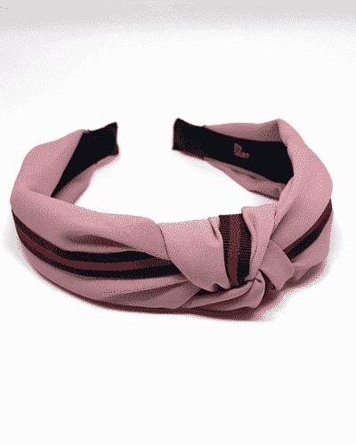bow's by stær, hårbøjle, hårtilbehør, hårpynt, single stripe, rosa, red stripe, single stripe rosa, rosa hårbøjle,