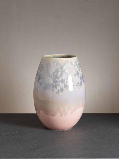 vase, porcelænsvase, vase i porcelæn, blomster vase, wauh design, krystalglasur, remix by sofie