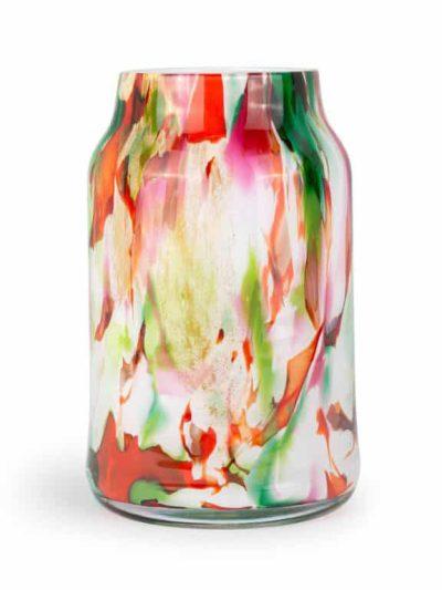 fidrio, opal vase, høj opalvase, opalvase til blomster, blomstervase, borddækning