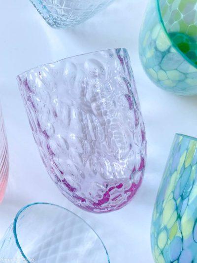ice glas lyslilla,mix and match glas, anna von lipa glas, anna von lipa forhandler, borddækning, mundblæste glas, bohemain glas, remix by sofie, vandglas, drikkeglas