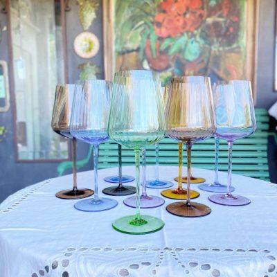 remix by sofie, vinglas, mundblæste vin glas, remix vin glas