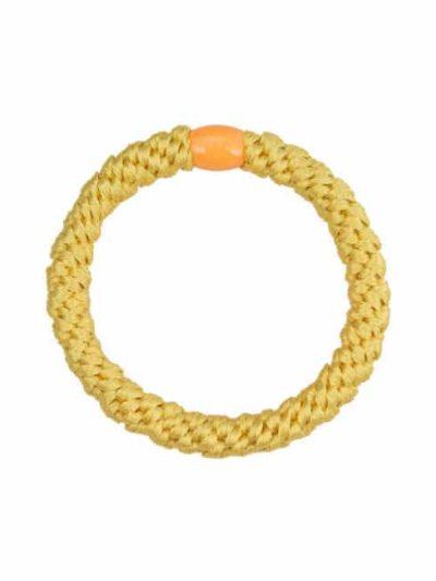 remix by sofie, bow's by stær, elastikker, braided hairties, elastik, hårpynt, hårelastikker, hårelastik, gul elastik