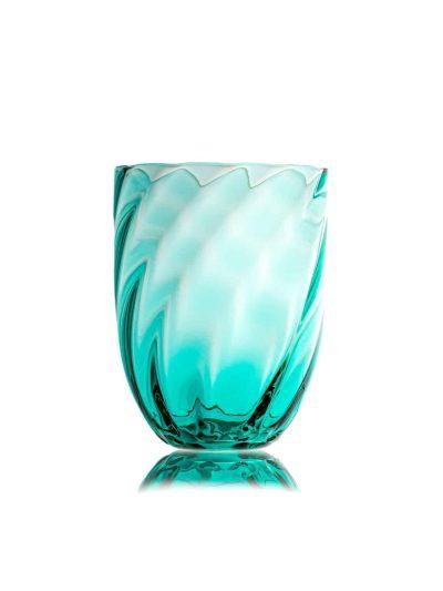 swirl glas, swirlglas turkis,mix and match glas, anna con lipa glas, anna von lipa forhandler, borddækning, mundblæste glas, bohemain glas, remix by sofie