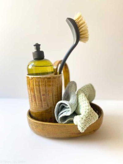 amber, honningbrun, iben keramik, remix by sofieopvaskestativ, opvaskegrej stativ, stativ til opvaskemiddel,