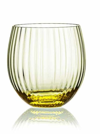 remix sjusglas gul, mundblæst glas, tethys, vand glas, drikke glas, drinks glas