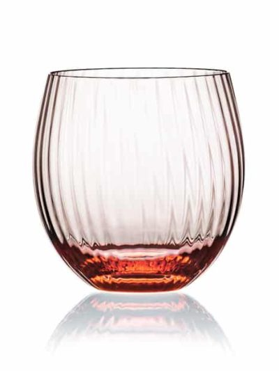 remix sjusglas koralrosa, mundblæst glas, tethys, vand glas, drikke glas, drinks glas