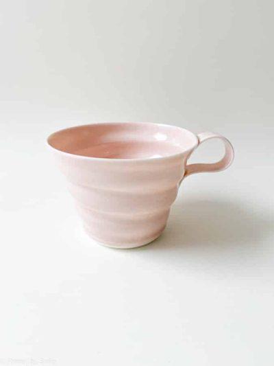 rikke maglesen keramik, pudder porcelæns kop, kaffe kop, kop, pastelfarvet kop, kaffekop, tekop