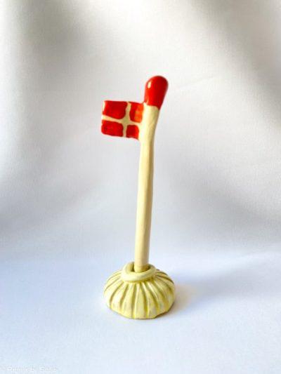 keramiske flag, flag i ler, fødselsdagsflag, flag mia lindbirk, remix by sofie