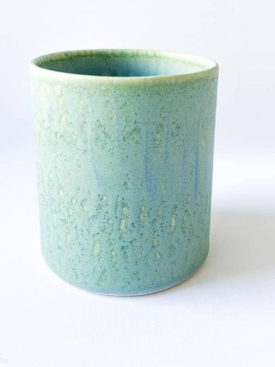 wauw design, urtepotte, håndlavet urtepotte,, lysegrøn urtepotte, remix by sofie