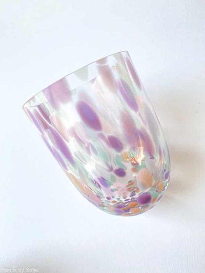 splash pastello, anna von lipa, confetti glas, anna von lipa glas, splash glas, glas med opal pletter, bohemain glasses, mundblæste glas, handblown glasses, czech design, czech glasses