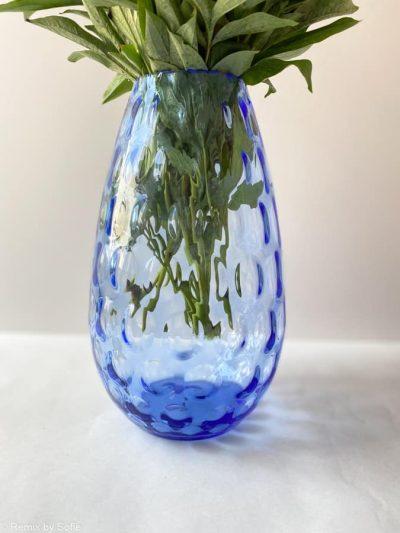 vase, vase i lyseblå
