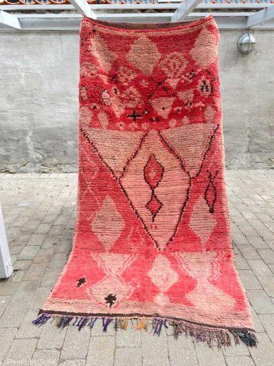 Azilal tæppe, tæppe, uld tæppe, tæppe fra Marokko, marokkanske tæpper,Boucheroite tæppe, tæppe af tøjstrimler, remix by sofie, boligindretning, håndlavede tæpper