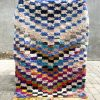 tæppe, uld tæppe, tæppe fra Marokko, marokkanske tæpper,Boucheroite tæppe, tæppe af tøjstrimler, remix by sofie, boligindretning, håndlavede tæpper