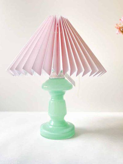 pink rose lampe, bordlampe, lampe, opallampe, lampe i opalglas. boligindretning, remix by sofie