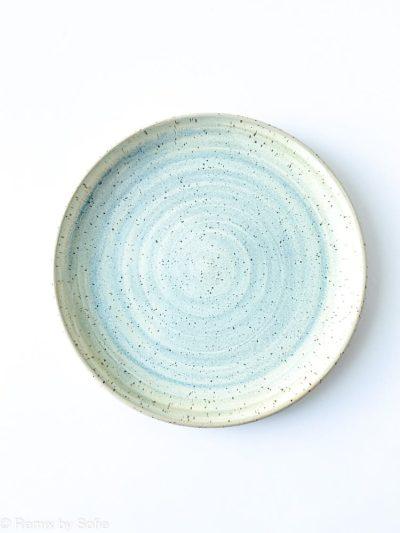 blåmint frokost tallerken,lilla tallerken, bordækning, tableware, keramiktallerken, stentøjstallerken, Émber keramik, keramik tallerken,Émber keramik, keramik tallerken,