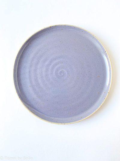 lilla tallerken, bordækning, tableware, keramiktallerken, stentøjstallerken, Émber keramik, keramik tallerken,