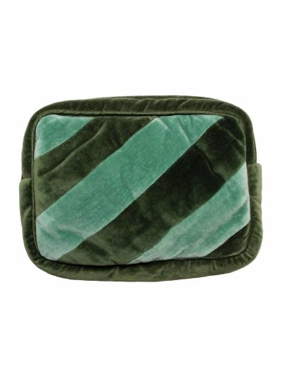 nova make up pung i grøn, toilettaske, pung,remix by sofie, ellies and ivy, ellies & ivy, make-up pung, make-up taske, make-up pung i velour,